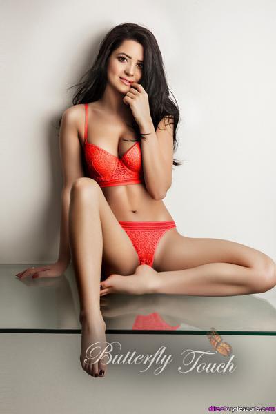 Cute slim brunette Antonia